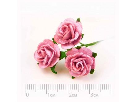 Розы бумажные № 12 пыльная роза