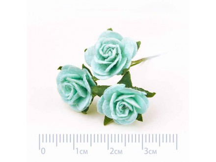 Роза бумажная № 10 мятная