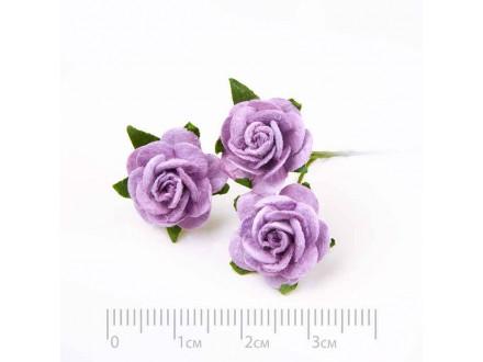 Роза бумажная № 9 сиреневый