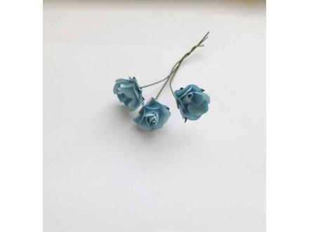Розы бумажные №8  голубые