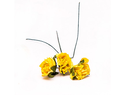 Розы бумажные №4 желтые