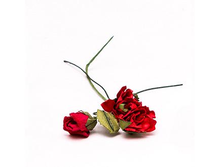 Розы бумажные №5 красные