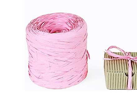 Веревка рафия розовая